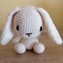 Amigurumi- Nagy fülű nyuszi, Játék & Gyerek, Plüssállat & Játékfigura, Nyuszi, Horgolás, Amigurumi- Nagy fülű nyuszi-100% pamutfonálból készült. Egyedi ajándéknak, nagyon aranyos játék nyu..., Meska