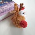 Rénszarvas könyvjelző / Rudolf könyvjelző , Mindenmás, Naptár, képeslap, album, Furcsaságok, Könyvjelző, A képen egy korábbi megrendelésem látható. Rudolf a híres piros orrú szarvas került a könyv közé :-)..., Meska