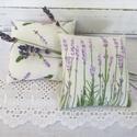 Levendula párnák, Dekoráció, Otthon, lakberendezés, Dísz, Levendula mintás pamutvászonból készült levendula párnák.Levendulával és vatelinnel töltve..., Meska