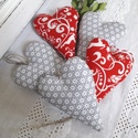 Karácsonyi dekorációs szívek, Dekoráció, Ünnepi dekoráció, Karácsonyi, adventi apróságok, Karácsonyi dekoráció, Karácsonyi dekorációs szívek,karácsonygadísz,ajándékkísérő. Méret:6x8 cm. Az ár öt dat..., Meska