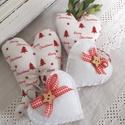 Karácsonyi dísz csomag, Dekoráció, Karácsonyi, adventi apróságok, Ünnepi dekoráció, Karácsonyfadísz, Karácsonyi dekoráció, Karácsonyi dísz csomag. Tartalma: 1 angyalszárny 1 szív 2 filc szív, Meska