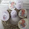 Filc dekorációs tojások, Baba-mama-gyerek, Dekoráció, Otthon, lakberendezés, Hat darab dekorációs filc tojás. Apró kézi öltéssel öltögettem körbe,vatelinnel tömtem puhára. Kedve..., Meska