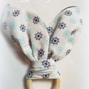 """""""Tengerész"""" nyuszifül rágóka, fogzókarika, rongyi, nyálkendő, Gyerek & játék, Táska, Divat & Szépség, Baba-mama kellék, Gyerekszoba, Ruha, divat, Gyerekruha, Baba (0-1év), Nyuszifül formájú pamutvászon nyálkendő fogzókarikával babáknak.   A kendő két különböző pamutvászon..., Meska"""