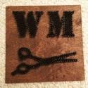 string art monogramos barber dekor, Dekoráció, Otthon, lakberendezés, Dísz, Kép, Mindenmás, String art (fonalgrafika) technológiával készítettem ezt a monogramos barber shopba készült dekorác..., Meska