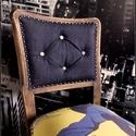 """4 db """"DIZÁJN"""" antik szék szett, Bútor, Férfiaknak, Szék, fotel, Legénylakás, Famegmunkálás, MIELŐTT MEGVÁSÁROLNÁD ÉRDEKLŐDJ, MIVEL MÁS OLDALON IS ÁRULOM! (előfordulhat, hogy közben elkelt, ér..., Meska"""