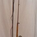 60-as évekbeli antik horgászbot állólámpa, Férfiaknak, Otthon, lakberendezés, Horgászat, vadászat, Lámpa, Famegmunkálás, Fémmegmunkálás,   60-as évekbeli antik horgászbot állólámpa     A bot egykori kézimunka .Az orsó rézből készült.Az ..., Meska