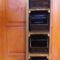 Fa tároló,szekrény ,polc 4db ipari fém fiókkal., Otthon, lakberendezés, Bútor, Tárolóeszköz, Szekrény, Famegmunkálás, Magasság (cm): 108 Szélesség (cm): 27 Mélység (cm): 35.5 Anyaga: fa, fém    Fa tároló,szekrény ,pol..., Meska