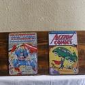 Marvel ,DC képregény borítók fémtábla gyűjtemény, Férfiaknak, Otthon, lakberendezés, Legénylakás, Falikép, Famegmunkálás,  Marvel ,DC képregény borítók fémtábla gyűjtemény    Meseszép fatáblán összerendezve.  A táblák:20x..., Meska