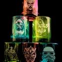 Star Wars üveg feles pohár készlet, Férfiaknak, Konyhafőnök kellékei, Legénylakás, Vőlegényes, Üvegművészet, Kézi gravírozott röviditalos pohár készlet. Az ár 6 db pohárra vonatkozik.  Űrtartalom: 5 cl  Mosog..., Meska