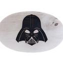 Darth Vader vágódeszka, Konyhafelszerelés, Férfiaknak, Vágódeszka, Konyhafőnök kellékei, Famegmunkálás, Reggeliző deszka égetett mintával.  Mérete: kb 21,5x13,5x0,7 cm, Meska