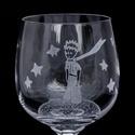 Kis herceg borospohár, Otthon & lakás, Férfiaknak, Konyhafelszerelés, Bögre, csésze, Sör, bor, pálinka, Kézi gravírozott bohémia kristály pohár kis herceg motívummal.  Szín: áttetsző Űrtartalom: 190 ml ..., Meska