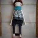 RezedaRozi Mimi baba játékbaba öltöztethető textilbaba egyedi doll clothdoll, Játék, Baba, babaház, Játékfigura, Plüssállat, rongyjáték, Baba-és bábkészítés, Varrás, Saját szabásminta alapján készített, egyedi, öltöztethető tini lányka stílusú textil baba.  - a bab..., Meska