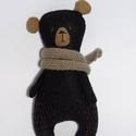 """Vidám filc mackó, játék maci gyapjú medve Grizzly, Játék, Plüssállat, rongyjáték, Baba, babaház, Baba játék, Baba-és bábkészítés, Varrás, Ez a kedves, vidám Grizzly maci igazi """"handmade"""" figura. Az első medve továbbgondolásaként születet..., Meska"""