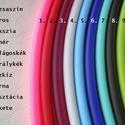 Színes kaucsuk karkötő, nyaklánc, Ékszer, Karkötő, Nyaklánc, Ékszerkészítés, Mindegyik színes kaucsuk 10 x 6 mm-es ovális profilú, kíváló minőségű ékszer alapanyag. A sima kauc..., Meska