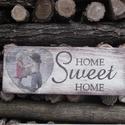 Home sweet home dekorációs tábla gyerekek, Dekoráció, Otthon, lakberendezés, Dísz, Falikép, Decoupage, transzfer és szalvétatechnika, Famegmunkálás, Saját elképzelés alapján készítettem szeretettel ezt a deszkát.  Új életet kapott ez a deszka, hogy..., Meska