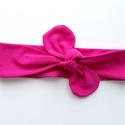 Pink masnis (csomózott) pamut jersey fejpánt / hajpánt, Baba-mama-gyerek, Ruha, divat, cipő, Hajbavaló, Hajpánt, Szuper aranyos divatos kiegészítő ez a masnis fejpánt!  Nagyon jó minőségű pamut jersey anya..., Meska