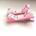 Rózsaszín Hello Kitty masnis hajcsat , Ruha, divat, cipő, Hajbavaló, Hajcsat, Varrás, Ékszerkészítés, Ezeket az aranyos rózsaszín Hello Kitty-s hajcsatokat szalagból készítettem,  4,5 cm-es aligátor ha..., Meska