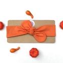 Narancssárga színű rugalmas pamut fejpánt / hajpánt, Szuper aranyos divatos kiegészítő ez a pamut fe...