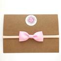 Rózsaszín masnis puha rugalmas hajpánt, fejpánt , Fotózásra, ünnepi alkalomra, illetve hétközna...