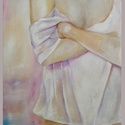Olajfestmény - Nő, Képzőművészet, Festmény, Olajfestmény, A kép mérete: 39,5x50 cm.   Feszített vászonra készült olajfestmény. , Meska