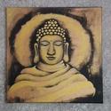Az én Buddhám , Képzőművészet, Festmény, Akril, Festészet, Méret: 50x50 cm, akrilfestékkel készítettem.   , Meska