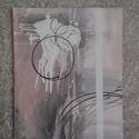 Purple - Festmény , Képzőművészet, Festmény, Festmény vegyes technika, Festészet, Méret: 33x41 cm, feszített vászonra készült. Többnyire akrilfestéket használtam.   A lilás-kékes ár..., Meska