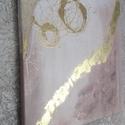 Arany karikák - Absztrakt festmény , Képzőművészet, Festmény, Festmény vegyes technika, Festészet, Kép mérete: 50x50 cm, vegyes technikával készült absztrakt festmény.  , Meska