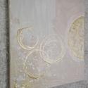 Bézs - Arany festmény , Képzőművészet, Festmény, Festmény vegyes technika, Festészet, A kép mérete: 46x55 cm. Vegyes technikával készült. Többnyire világos színek, bézses árnyalatok jel..., Meska