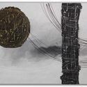 Összhatás , Dekoráció, Képzőművészet, Kép, Festmény, A kép mérete 69,5x50 cm.   Egyedi alkotás, absztrakt festmény.   Kiváló dekoráció egy modern..., Meska