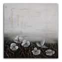 Fehér virágok, Dekoráció, Képzőművészet, Kép, Napi festmény, kép, A kép mérete 50x50 cm. Egyedi alkotás, feszített vászonra készült vegyes technikával. , Meska
