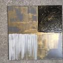Absztrakt festmény 4, Képzőművészet, Dekoráció, Festmény, Kép, 50x50 cm-es feszített vászonra készült vegyes technikával. , Meska