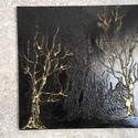 Fák , Dekoráció, Képzőművészet, Kép, Festmény, 50x50 cm-es feszített vászonra készült. , Meska