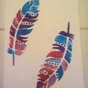 Színes tollak, Dekoráció, Képzőművészet, Kép, Festmény, Festészet, Feszített vászonra készült akril kép.  Méret: 24 cm X 18 cm, Meska