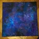 Éjjeli égbolt csillagokkal, Dekoráció, Képzőművészet, Kép, Festmény, Festészet, Éjszakai égboltot ábrázoló kép.  A csillagok tetszőlegesen kapcsolhatóak.  (az égősor elemmel működ..., Meska
