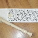 Hangjegyes furulyatok Melindának, A -csukott állapotban- 35cm×9cm-s tépőzáras f...