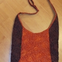 Csoki és terra tűzött táska MARCSINAK, 38cm széles, 35cm magas,állítható pántjainak ...