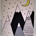 Hegyek fantáziája akril festmény, Baba-mama-gyerek, Dekoráció, Gyerekszoba, Baba falikép, Festészet, Napjainkban egyre népszerűbb minimál stílusban készült kép. Gyerekszobában illetve  a lakás minden ..., Meska