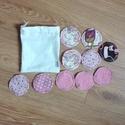 Mosható arctisztító korong, kozmetikai korong- mintásak/ rózsaszín 10 db , Szépségápolás, Egészségmegőrzés, Fürdőszobai kellék, Miért használj mosható arctisztító párnákat?  -tudod miből készült -bőrbarát, puha pamut anyagból va..., Meska