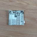 Uzsonnás tasak- kicsi, újságpapír mintás, Táska, Konyhafelszerelés, Szatyor, Pénztárca, tok, tárca, Helyettesíti az eldobható műanyag zacskókat. Ha gyümölcsöt, rágcsálnivalót viszel magaddal a munkába..., Meska