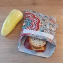 Uzsonnástasak, vízhatlan szendvics csomagoló - mandala - snackbag újratasak, vízálló tok, wetbag, betéttartó