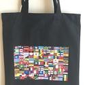 Vászon szatyor - Zászlók, Mindenmás, Táska, Szatyor, A vászon szatyor mérete 40X35 cm, Meska