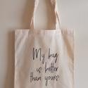 Designer vászon szatyor - Designer shopping bag, Mindenmás, Táska, Szatyor, Válltáska, oldaltáska, Fotó, grafika, rajz, illusztráció, A vászon szatyor mérete kb 40x35 cm.   The size of the bag is cca 40x35 cm. , Meska