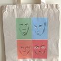 Designer vászon szatyor (Arcok), Táska, Mindenmás, Szatyor, Válltáska, oldaltáska, Fotó, grafika, rajz, illusztráció, A vászon szatyor mérete 40x35 cm. Póló is rendelhető.  The size of the bag is cca 40x35 cm. It can ..., Meska