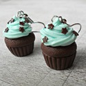 Menta muffin, Mentás, habos csokis muffin, csokicsillagokkal me...
