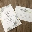 Esküvői meghívó, RSVP, Menükártya, Ültetőkártya , Esküvő, Meghívó & Kártya, Meghívó, Fotó, grafika, rajz, illusztráció, Mindenmás, Egyedi elképzelés alapján tervezzük, és kivitelezzük esküvői meghívótokat, az ültetési rendet, viss..., Meska