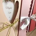 Meghívó, Esküvő, Meghívó & Kártya, Meghívó, Mindenmás, 15*15-ös méretű meghívó, egyedi dekor mintával középen, bármilyen színben kérhető. Eltérő méretű is..., Meska
