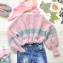 Shiny Cloud pulcsi ! Prémium minőség, Ruha, divat, cipő, Női ruha, Egyedi darab | Kézzel készült  Kötött bő pulcsi bő ujjal, rövid derékkal csillogó szállal kötve. Nag..., Meska