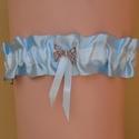 Comcsipke K012, Esküvő, Menyasszonyi ruha, Esküvői ékszer, Esküvői dekoráció, Varrás, VILÁGOSKÉK SZATÉN 4CM SZÉLES, MASNI FÉM DÍSSZEL.  Méretek: S/M , L/XL Egyedi méretben is lehet kérn..., Meska