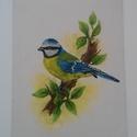Kék cinege akril festmény, Képzőművészet, Festmény, Akril, Festészet, Kék cinege, az év madara 1984  Eladó a képen látható lakkozott, vászonra készült akril festmény. 18..., Meska