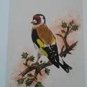 Tengelic akril festmény, Képzőművészet, Festmény, Akril, Festészet, Tengelic, az év madara 2017  Eladó a képen látható lakkozott, vászonra készült akril festmény. 18 c..., Meska